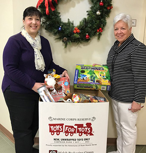 Willow's Pediatrics gives back Toys for Tots