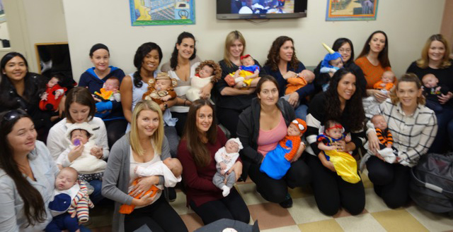 Willow's Pediatrics Baby Group Photo - Halloween Celebration