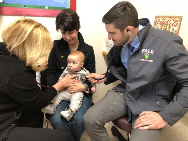 Willows Pediatrics gives back - Yale medical students visit