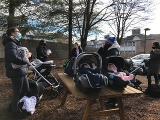 Our baby group met outside here at Willows Pediatrics due to the pandemic and covid-19